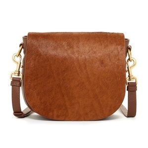 Badgley Mischka Tan Saddle Bag